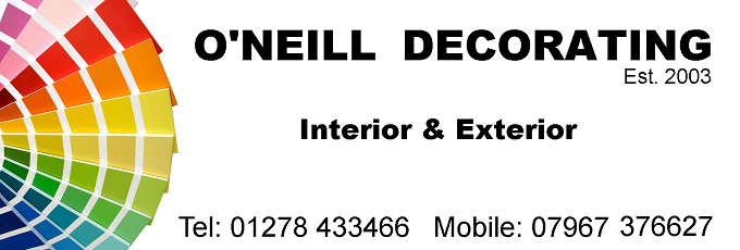 Martyn O'Neill, Interior Exterior, Painter and Decorator, Bridgwater, Somerset